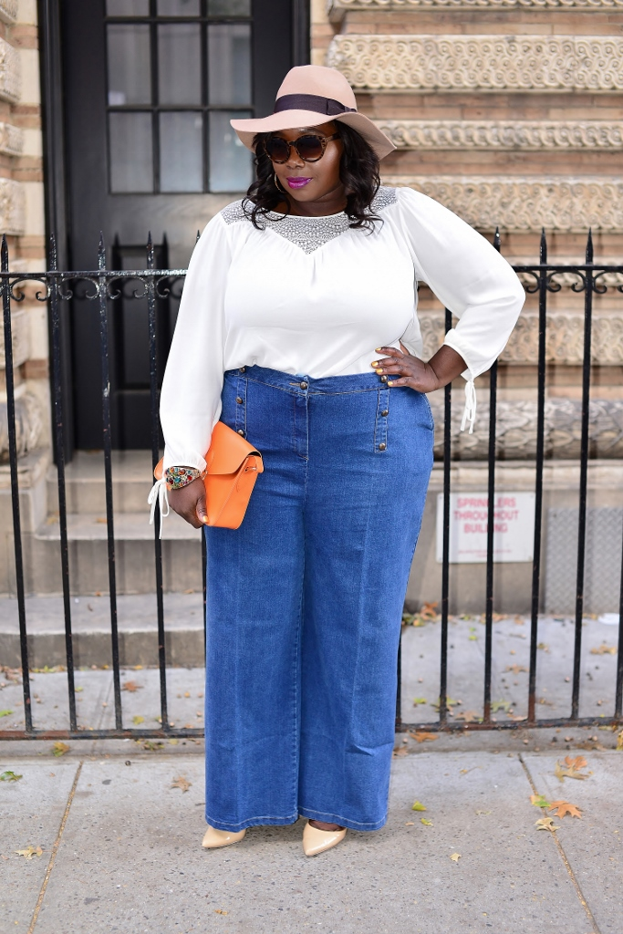 Bringing the 70's back with wide leg jeans