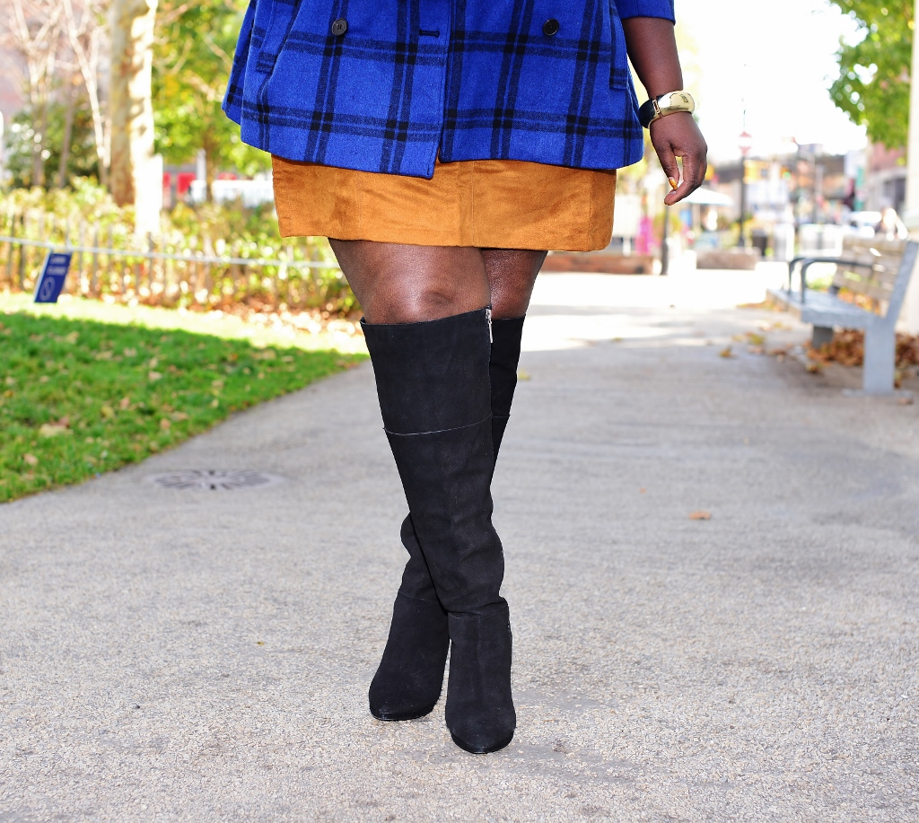 2c2116acb58 Style Journey  Over The Knee Boots And A Mini Skirt