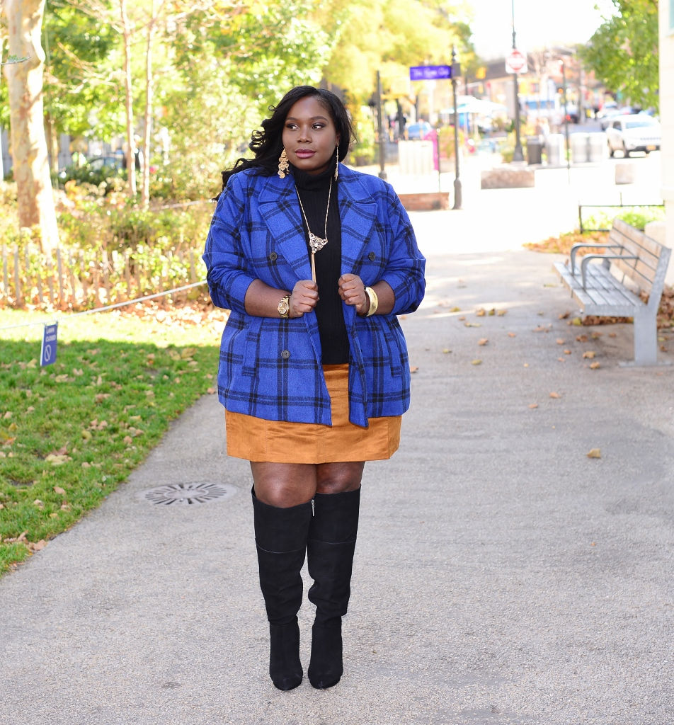 Style Journey: Over The Knee Boots And A Mini Skirt | Stylish Curves