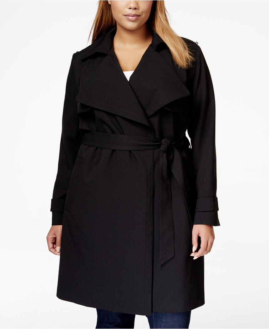 michael kors plus size trench