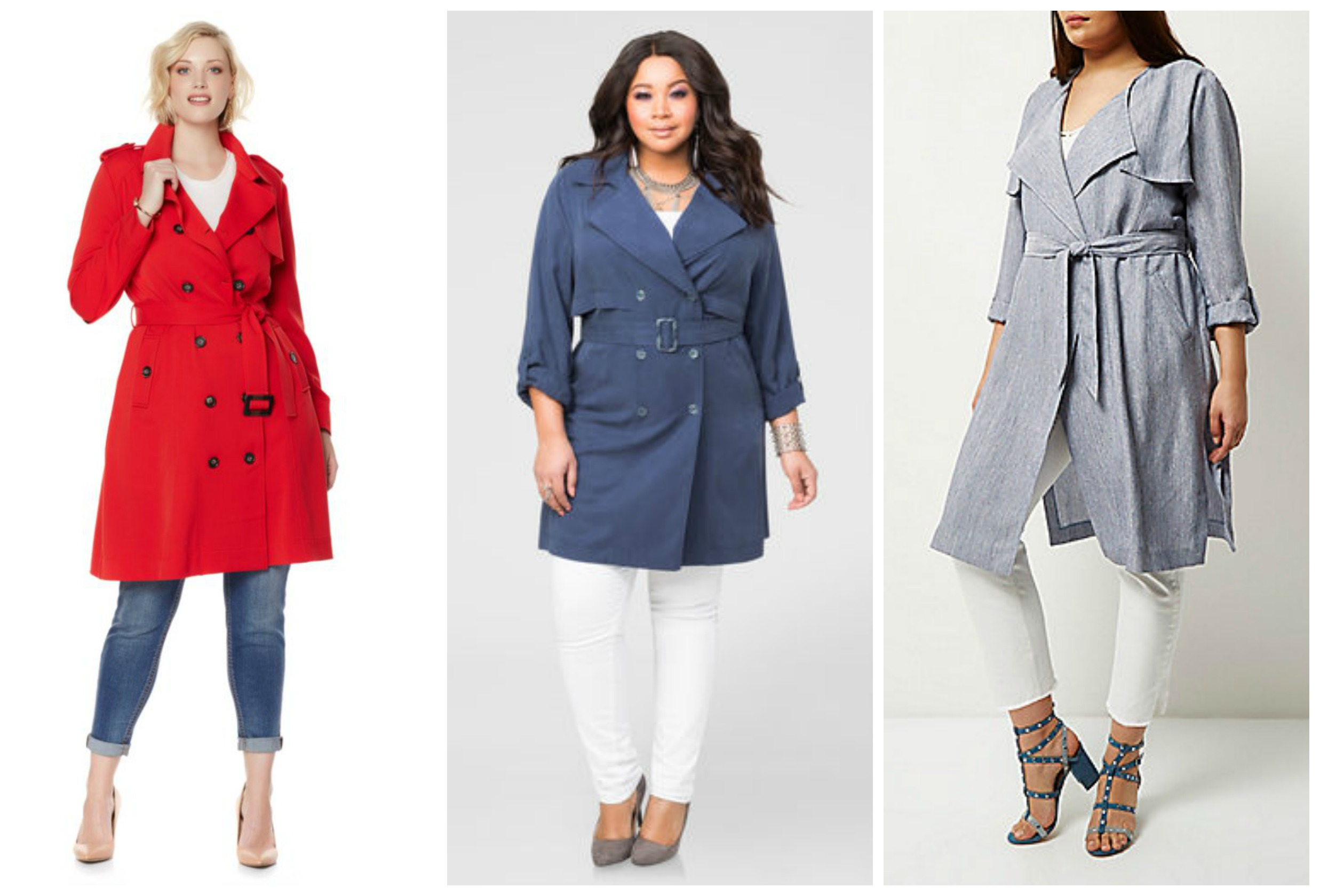 plus size trench coats3