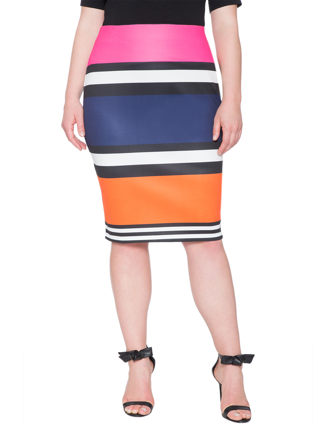 Stijlvolle rondingen Pick Of The Day: Eloquii Colorblock Pencil Skirt Eloquii