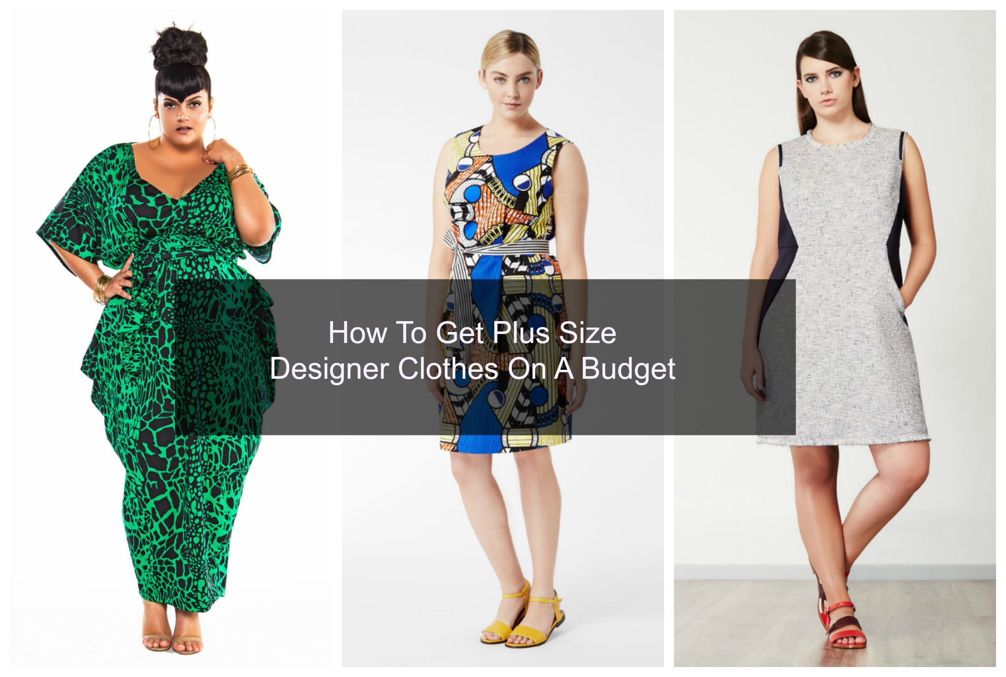 how to score plus size designer clothes on a budget