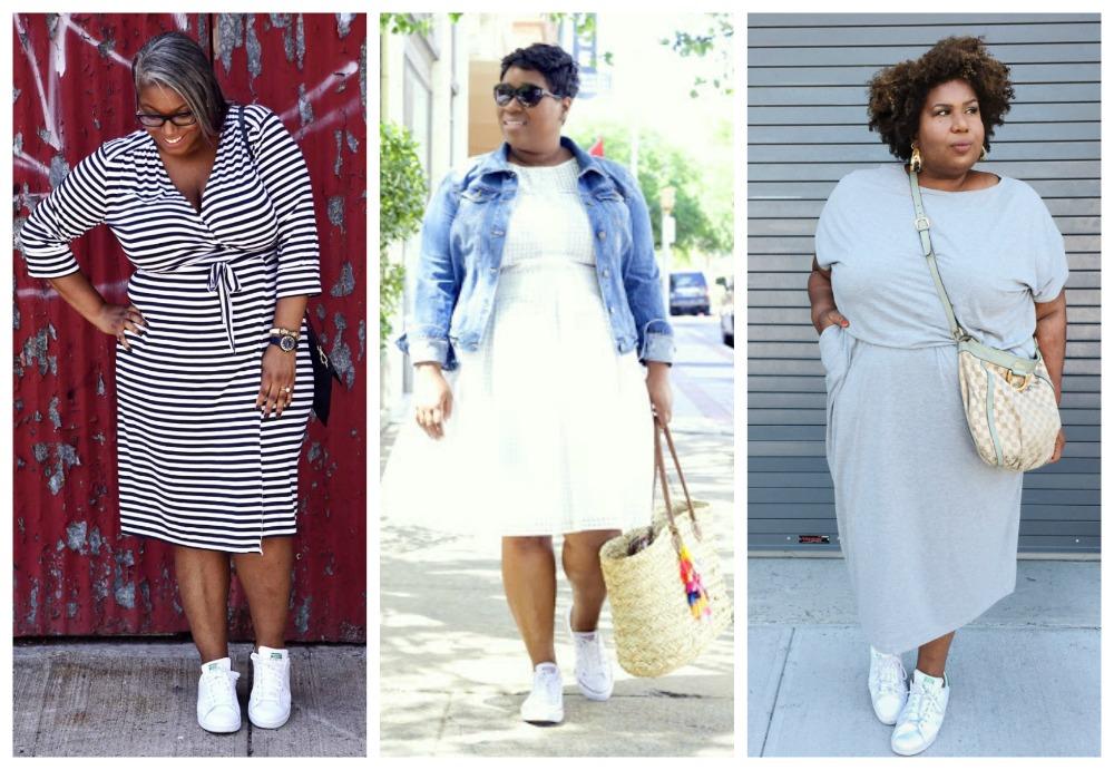 Sneakers met jurken en rokken, 6 bloggers laten ons zien hoe het werkt sportschoenen