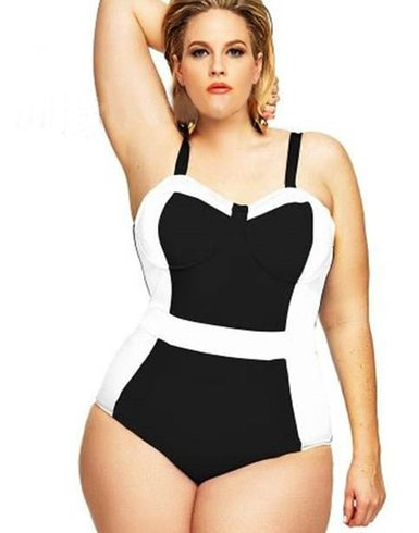 one piece plus size swimsuits