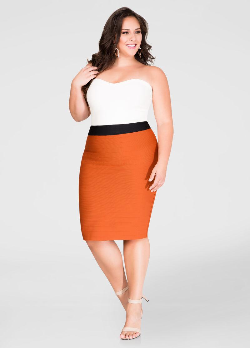 8a0de862624ae SC Pick  Ashley Stewart Strapless Bandage Dress Up To Size 32 ...