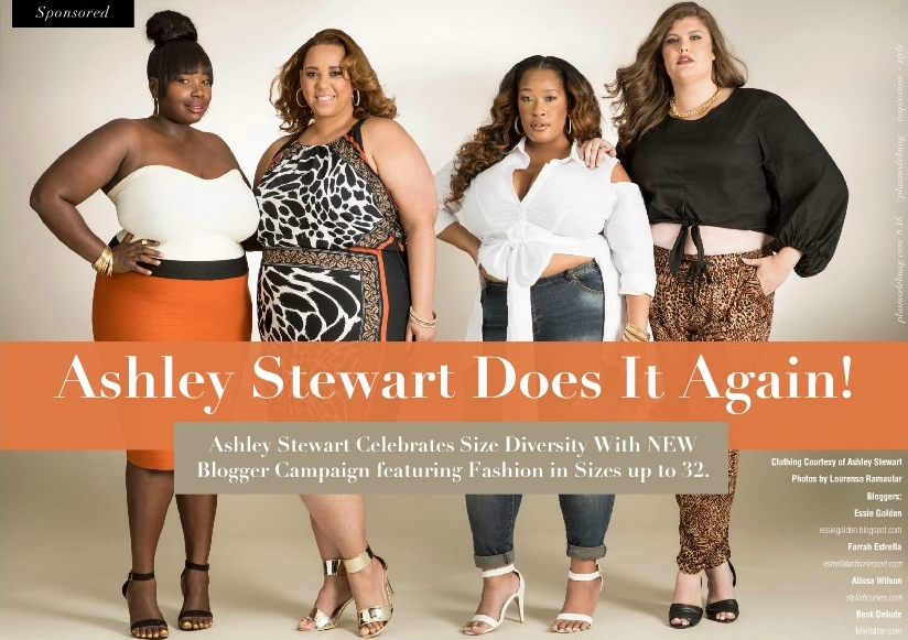 19d63dda9d8 Plus Size Bloggers Featured In Ashley Stewart Summer Campaign With Plus  Model Magazine
