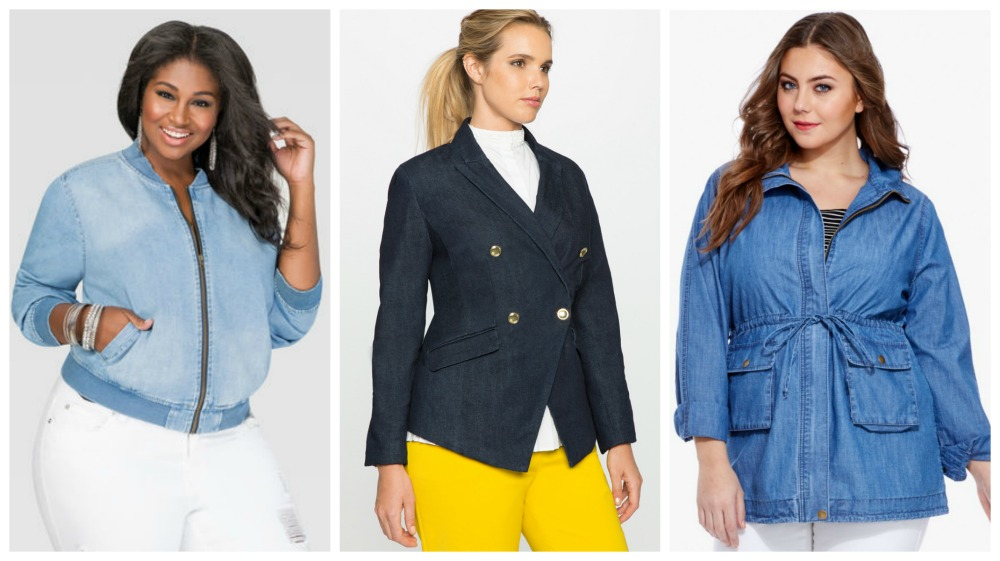 plus size denim jackets