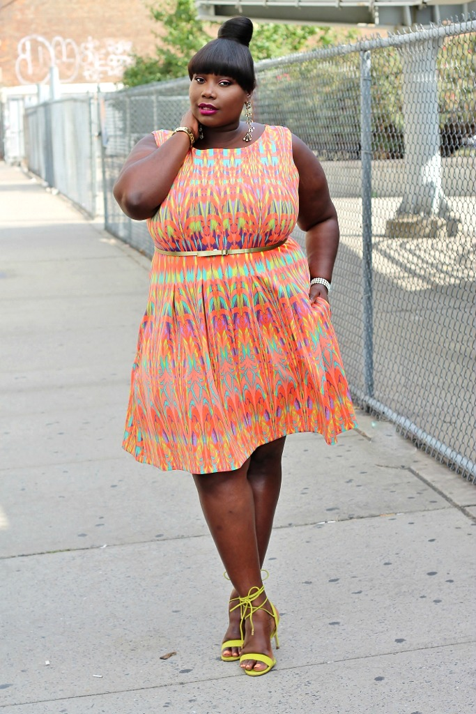af97825aab3 Keeping It Chic In A Gabby Skye Aztec Print Dress For NYFW