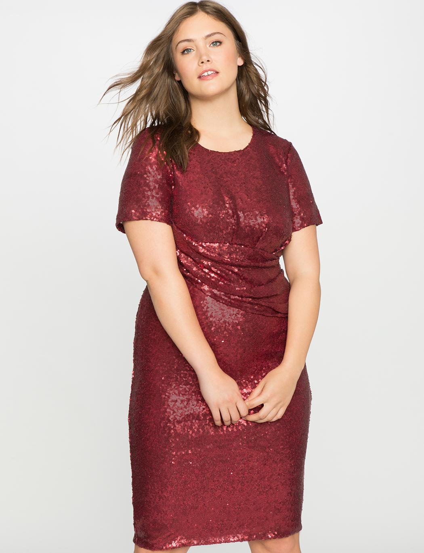 eloquii-sequin-draped-dress