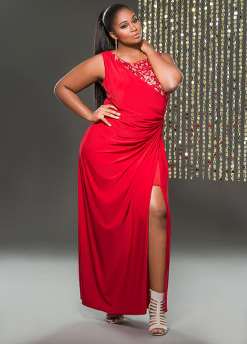 2a3c3aba7 Ashley Stewart Comes Through With A Sexy Plus Size Holiday Dress ...