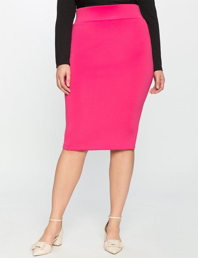 Neoprene Pencil Skirt