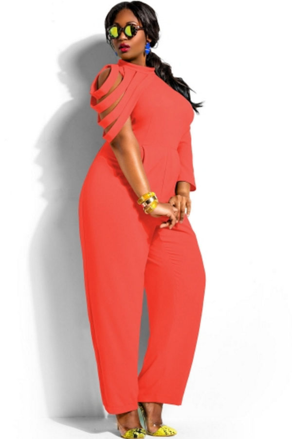 Orange Asymmetrical Jumpsuit