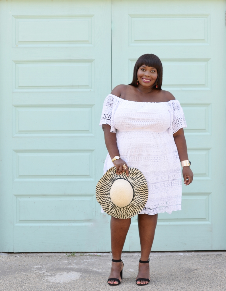 Keeping It Chic In A Lace White Plus Size Dress   Stylish Curves