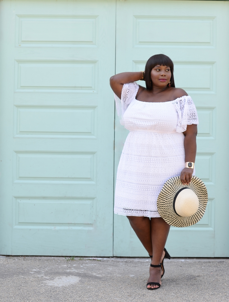 Keeping It Chic In A Lace White Plus Size Dress | Stylish Curves