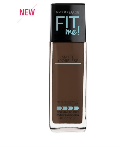 Maybelline Fit Me Foundation 16 new shades
