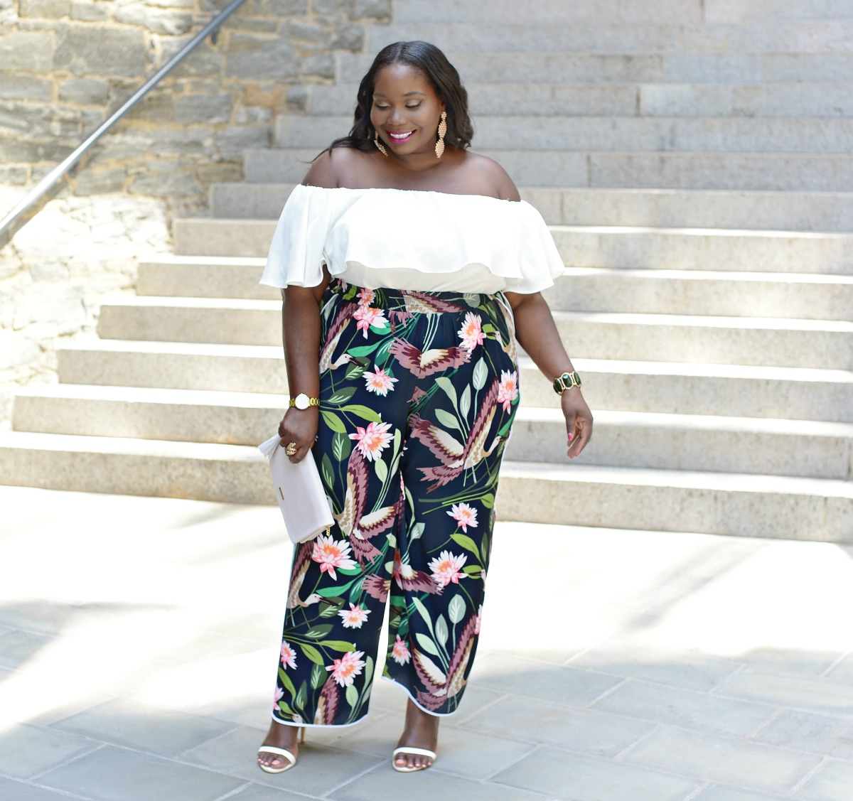 How To Wear The Floral Pant Trend