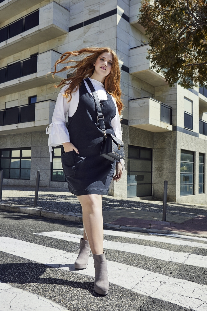 Simply Be Debuts Nieuwe herfstkleed plus groot assortiment met Denise Bidot Herfstmode
