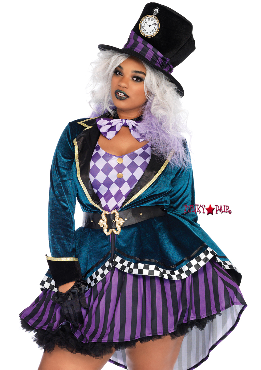 720b88d61e2 ... hatter inspired costume. The high-low skirt is just darling. You can  give this costumer some edginess by following this steampunk makeup look  tutorial!
