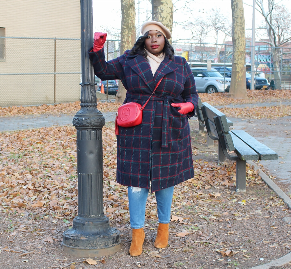 how to accessorize winter coats for plus size women