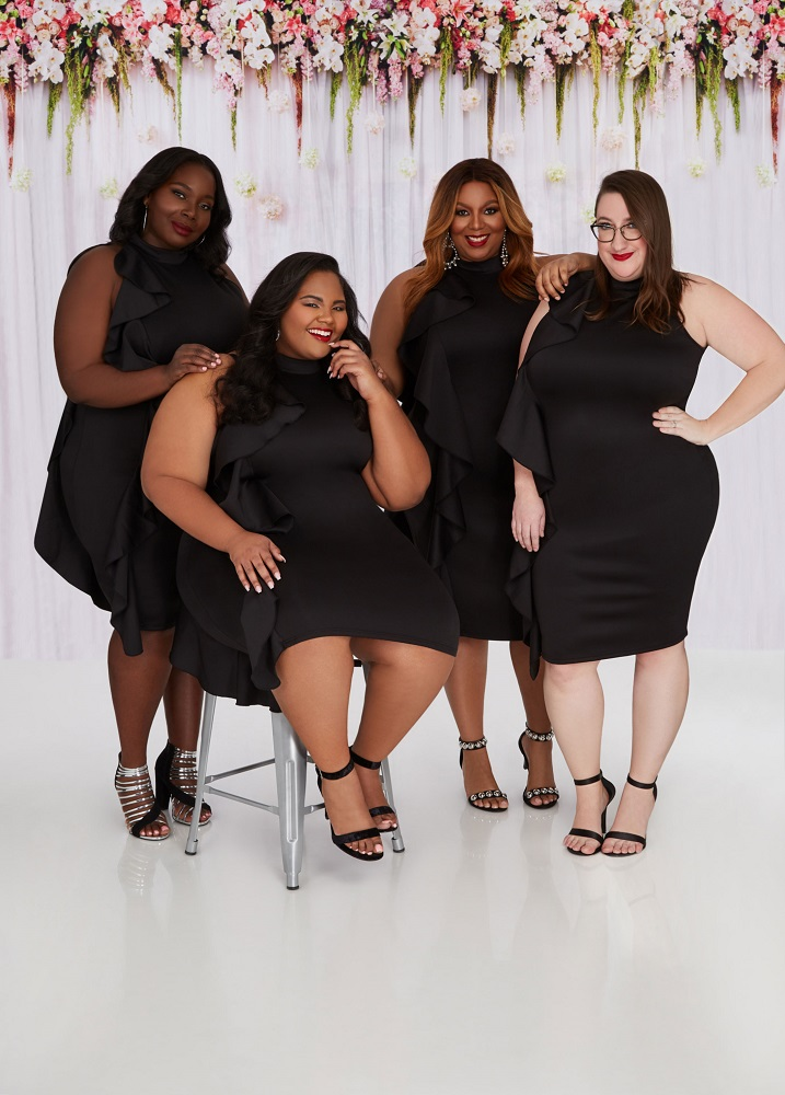 c1c7c799115 ... Ashley Stewart s spring collection is filled with fun and flirty dresses.  One of my favorites was the black one sided ruffled dress we all wore.