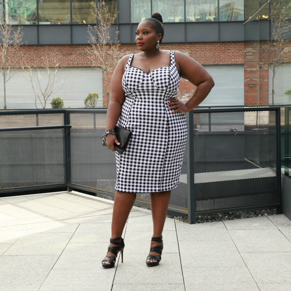 JCPenney Plus size dress in gingham