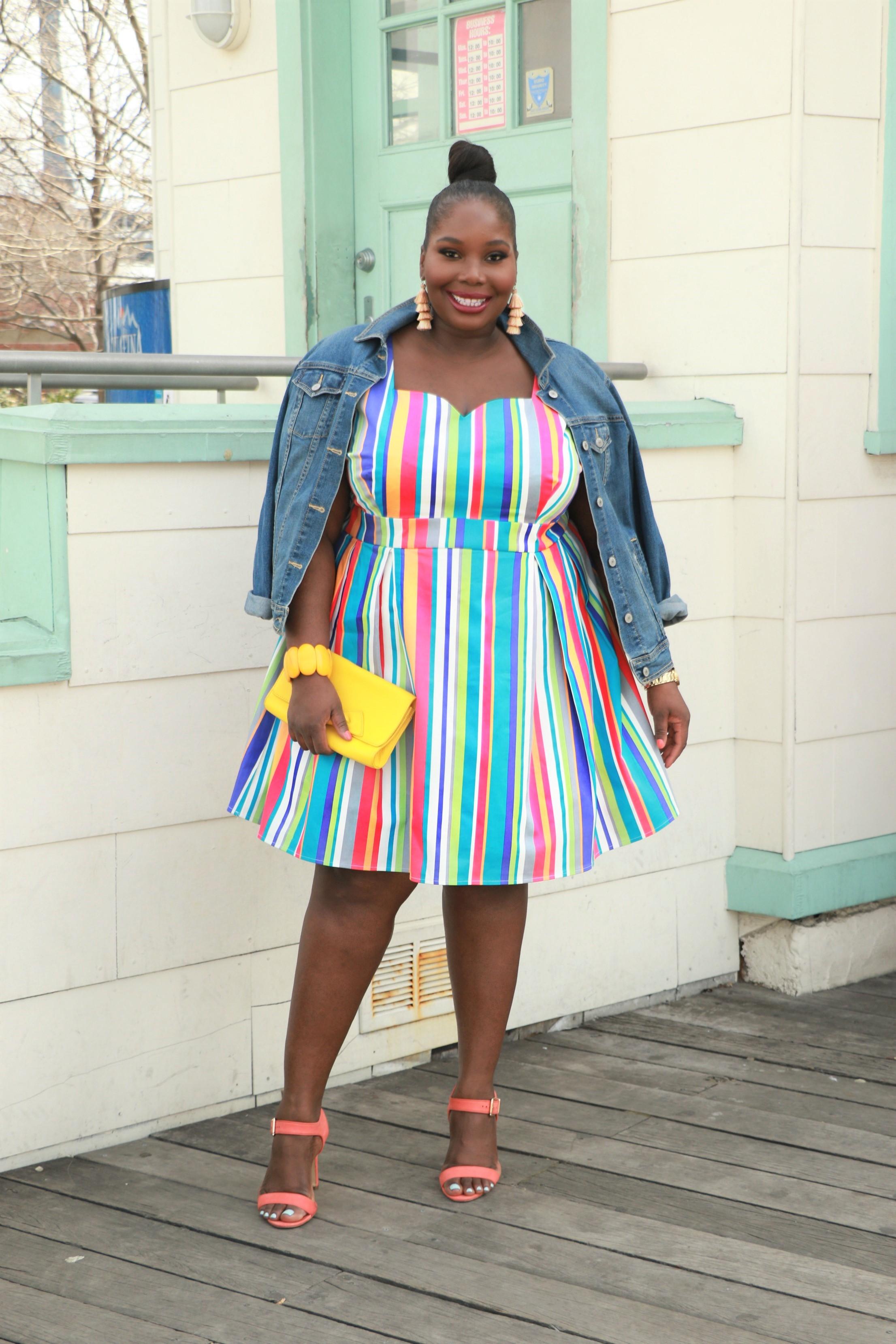e7085ebe41ed7 Although I Hate My Arms,This Modcloth Rainbow Dress Helped Me ...