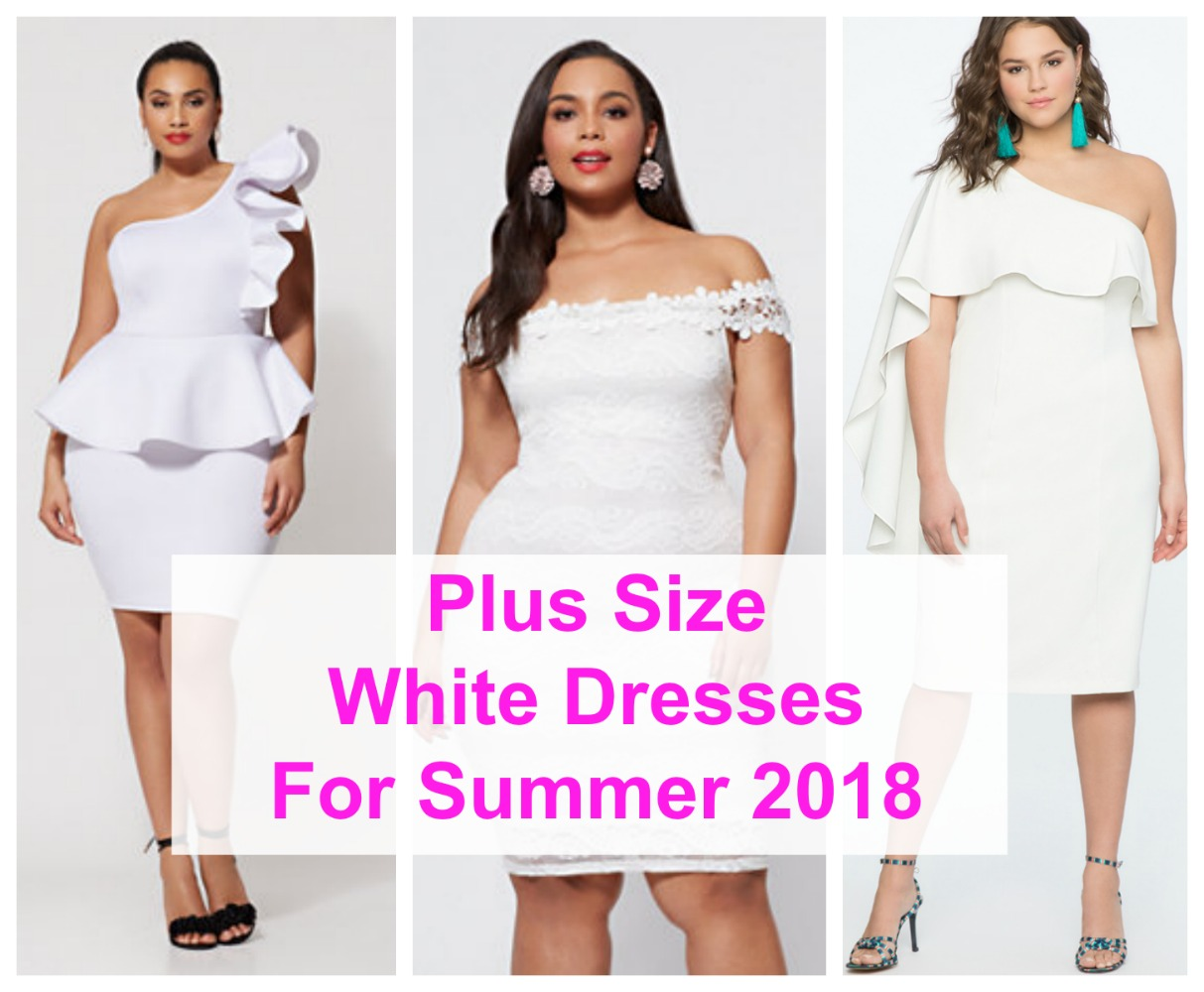 Chic White Plus Size Dresses For Summer | Stylish Curves
