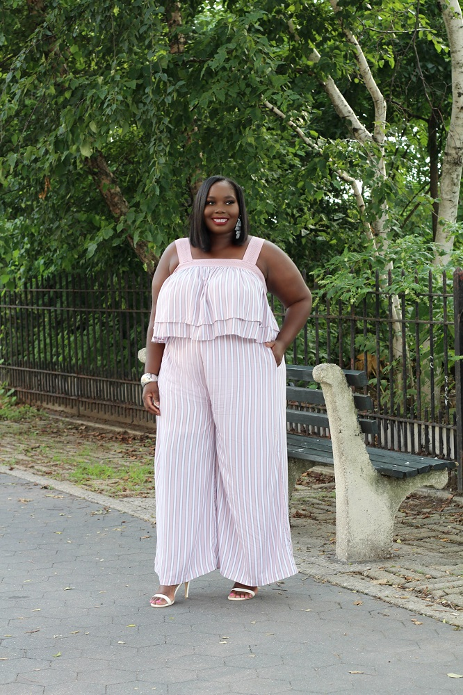 116285ae6c3 Breaking Out Of My Comfort Zone With Soncy Plus Size Wide Leg Pant Set