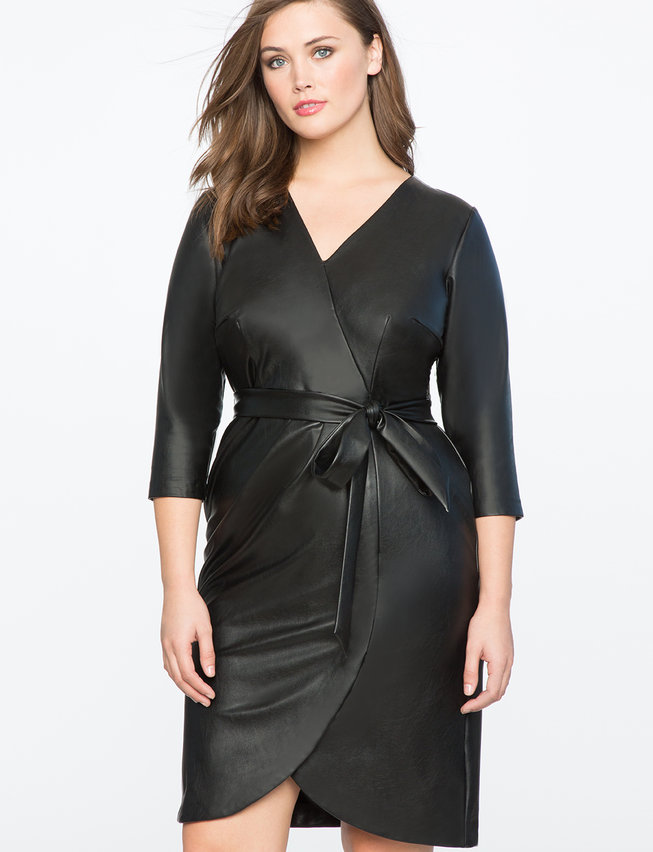plus size leather dress from eloquii