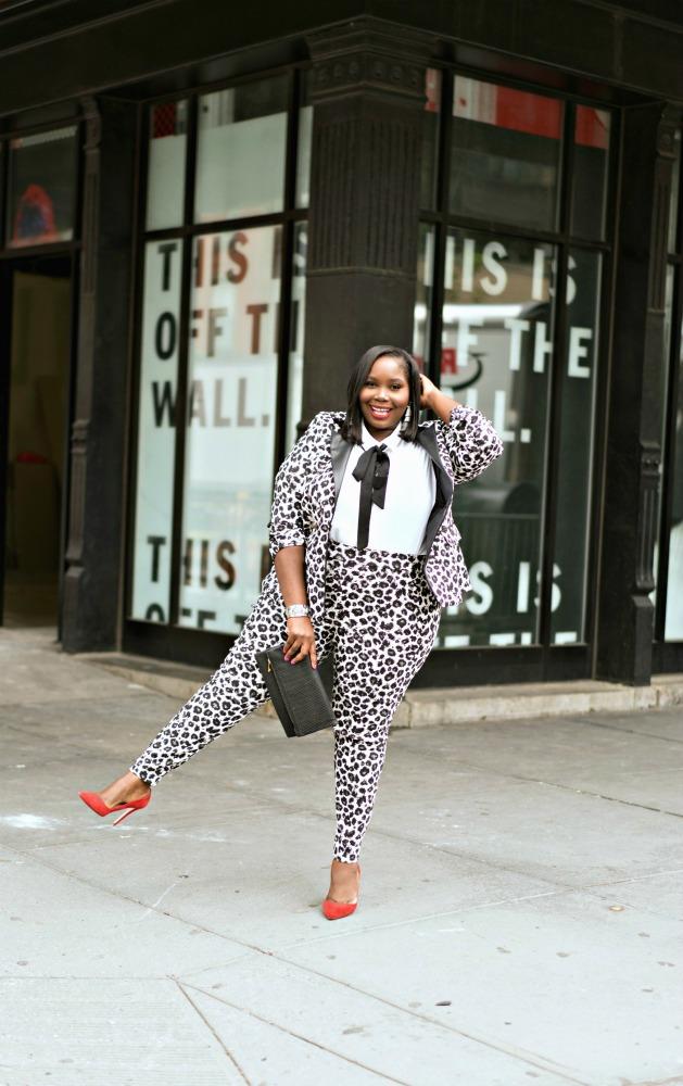 Lane Bryant plus size leopard print suit 1