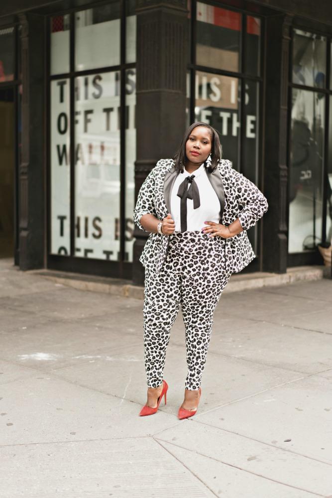 Lane Bryant plus size leopard print suit 3