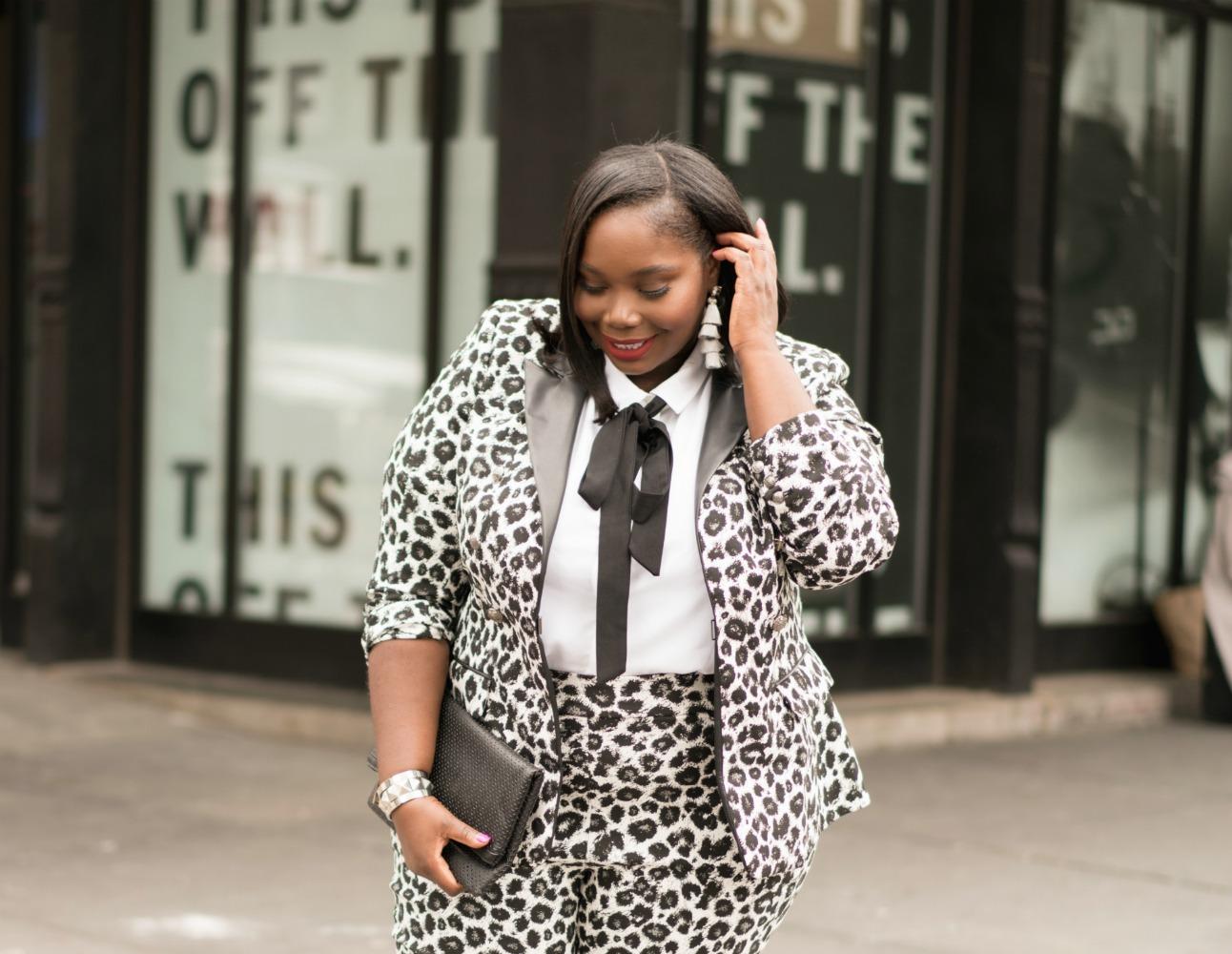 Lane Bryant plus size leopard print suit 2
