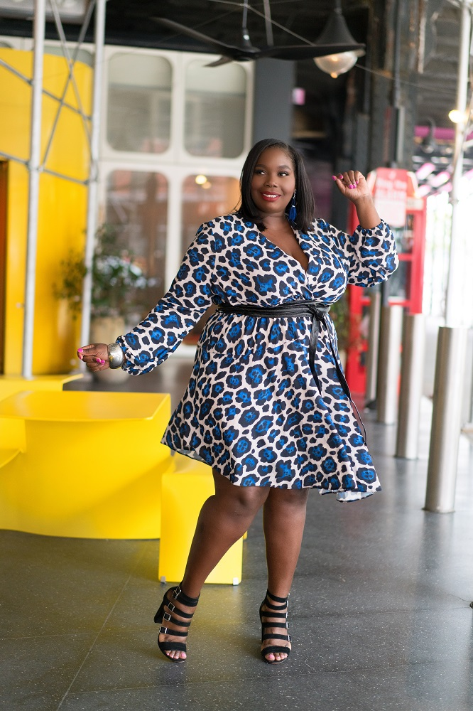 Twirling On Plus Size Haters In ASOS Curve John Zack Blue ...