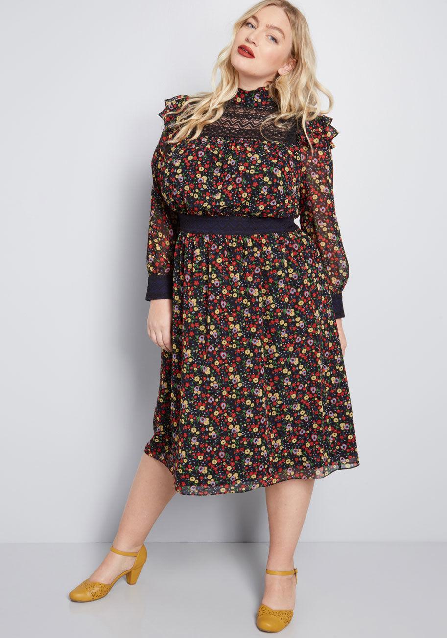 f7274428d76ba Modcloth X Anna Sui Size Inclusive Collection. Floral Dress · Velvet Dress