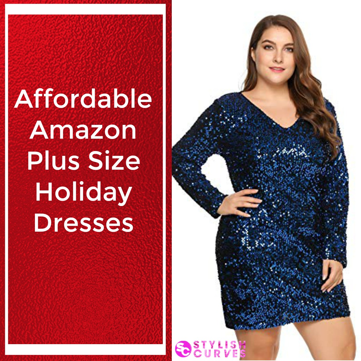 Cheap Plus Size Holiday Dresses On Amazon | Stylish Curves