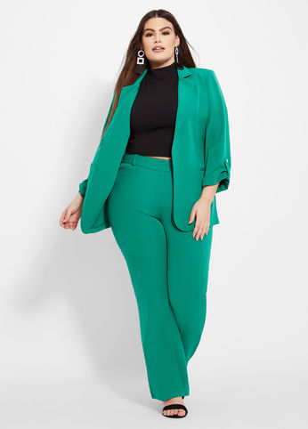 plus size winter work outfits