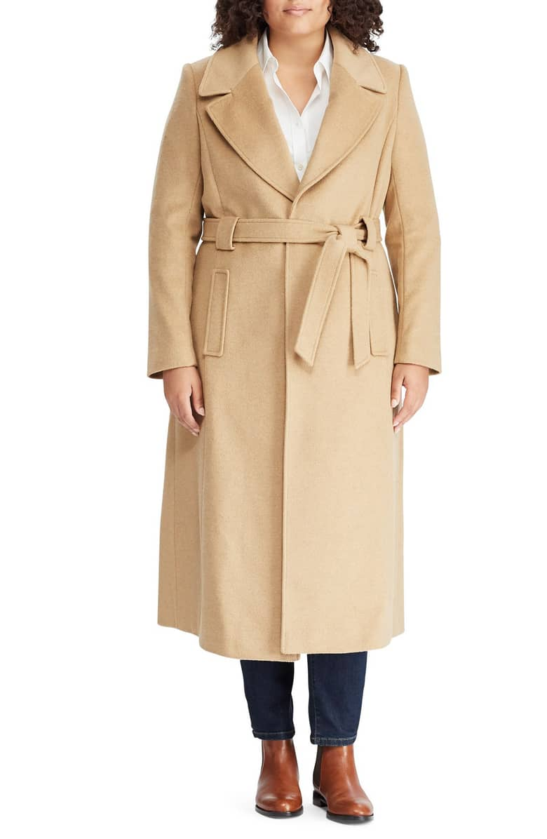 plus size camel coats