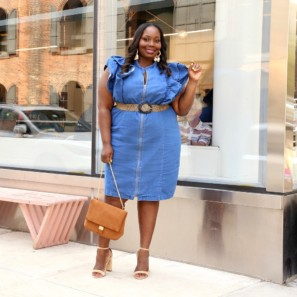 9fbd937689b Must Have Plus Size Denim Dresses You Need For Spring