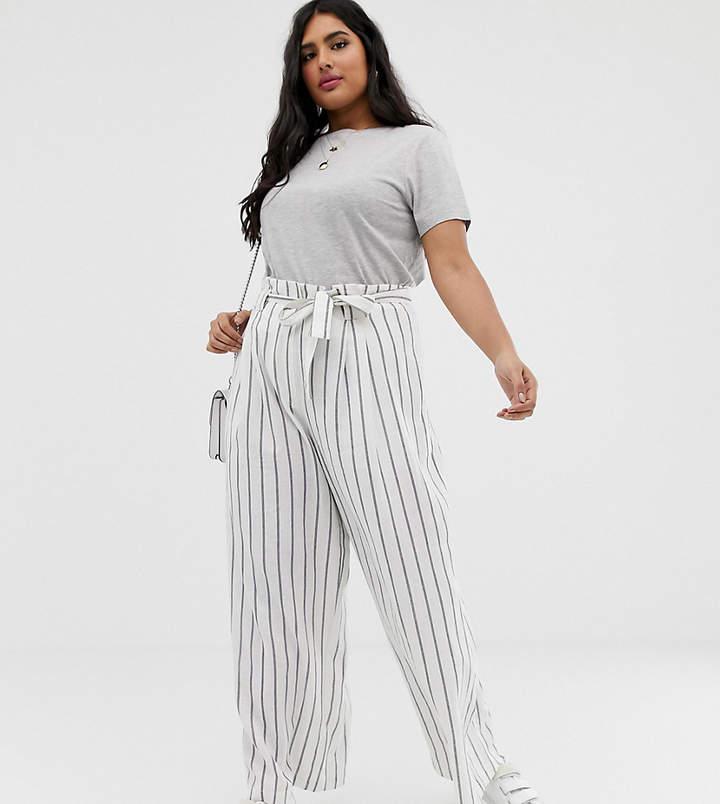 plus size paperbag waist pants